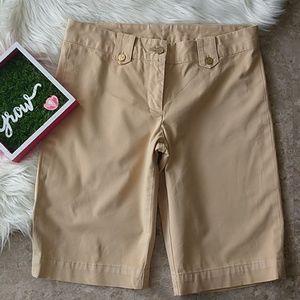 Tory Burch Tan Bermuda Shorts Size 4